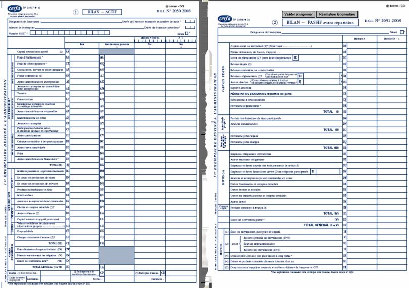 présentation bilan comptable